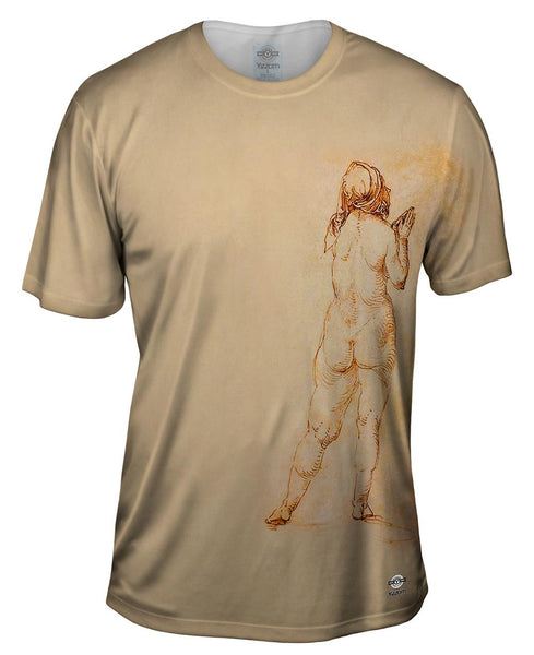 "Albrech Durer - ""Female Nude Praying"" (1514) Mens T-Shirt"