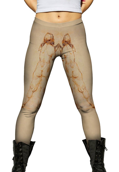 "Albrech Durer - ""Female Nude Praying"" (1514) Womens Leggings"