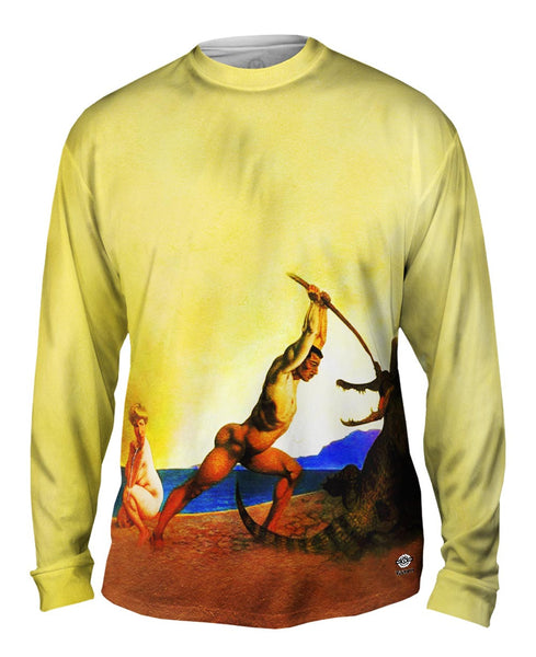 "Albrecht Durer - ""Persee Killing The Dragon"" (1910) Mens Long Sleeve"