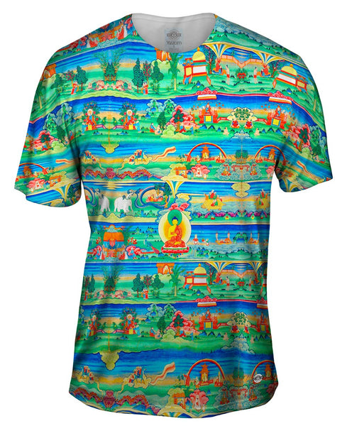 """Bhutanese Painted Thanka of the Jataka Tales"" Mens T-Shirt"
