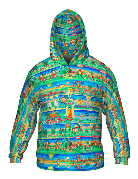 """Bhutanese Painted Thanka of the Jataka Tales"" Mens Hoodie Sweater"