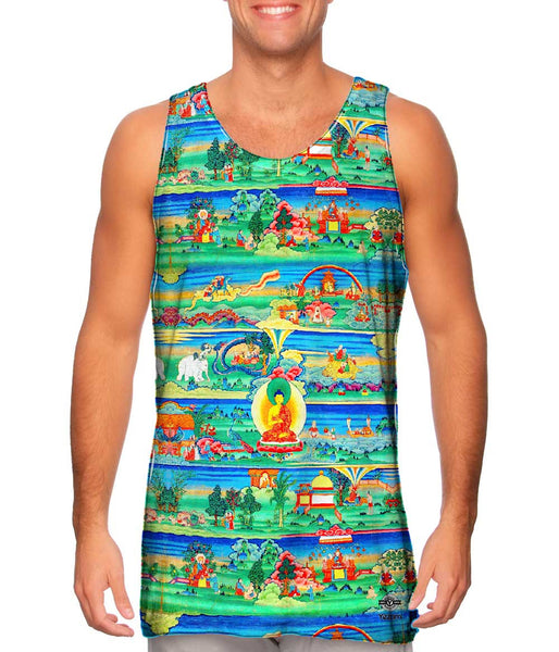 """Bhutanese Painted Thanka of the Jataka Tales"" Mens Tank Top"