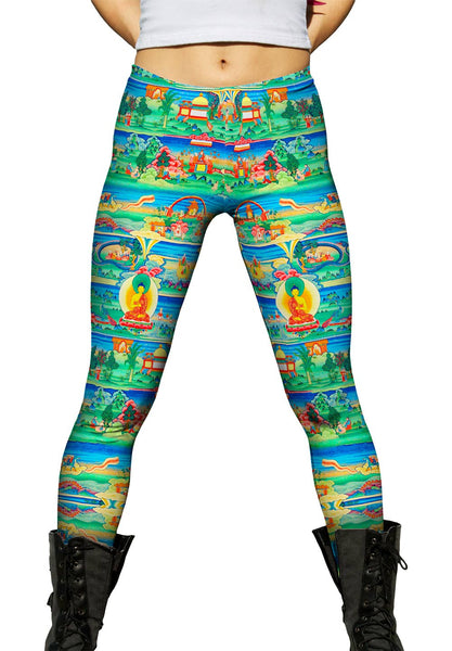 """Bhutanese Painted Thanka of the Jataka Tales"" Womens Leggings"