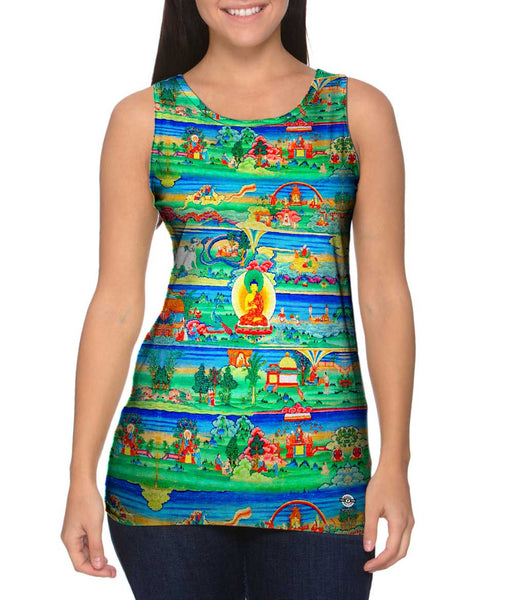 """Bhutanese Painted Thanka of the Jataka Tales"" Womens Tank Top"