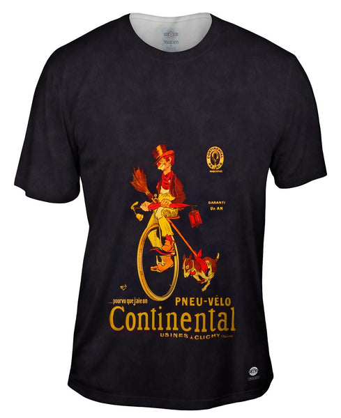 """If Only I Had A Continental Bicycle Tire Advertising Poster"" Mens T-Shirt"