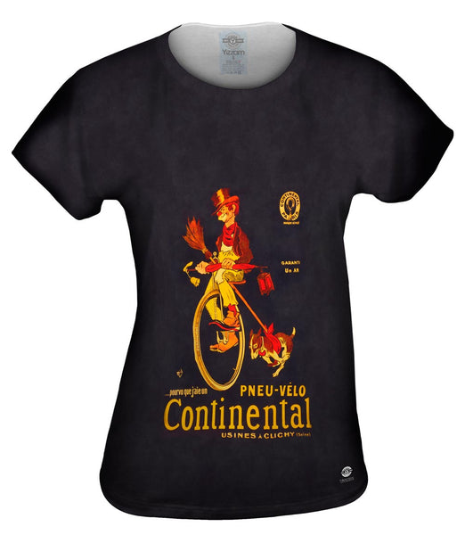 """If Only I Had A Continental Bicycle Tire Advertising Poster"" Womens Top"