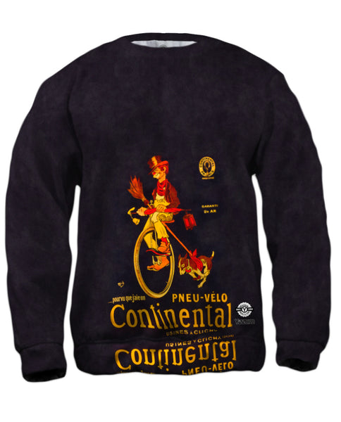 """If Only I Had A Continental Bicycle Tire Advertising Poster"" Mens Sweatshirt"
