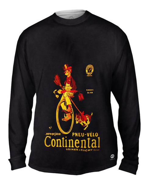 """If Only I Had A Continental Bicycle Tire Advertising Poster"" Mens Long Sleeve"