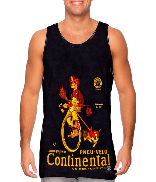 """If Only I Had A Continental Bicycle Tire Advertising Poster"" Mens Tank Top"