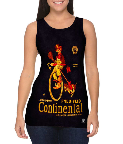"""If Only I Had A Continental Bicycle Tire Advertising Poster"" Womens Tank Top"