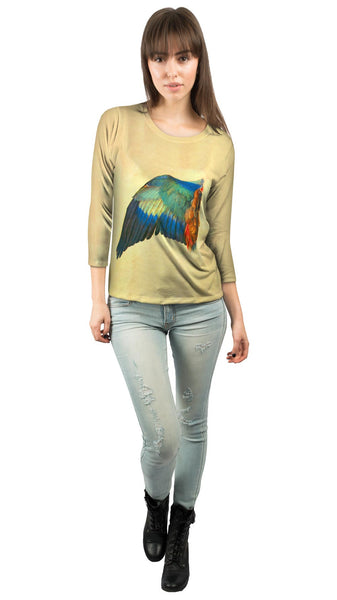 "Albrecht Durer - ""Wing of a Blue Roller"" (1512) Womens 3/4 Sleeve"
