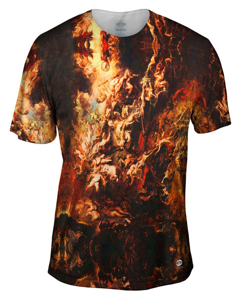 "Peter Paul Rubens - ""The Fall of the Damned"" (1620) Mens T-Shirt"