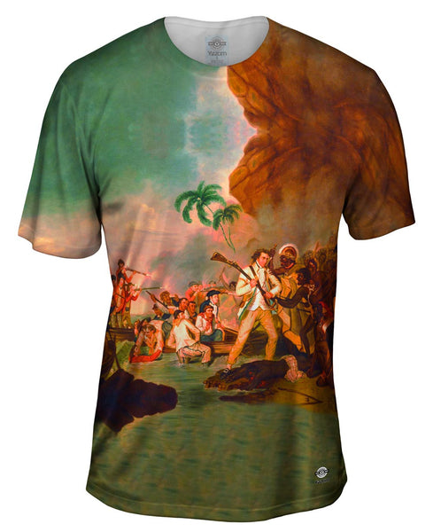 "George Carter - ""Death of Captain James Cook"" (1783) Mens T-Shirt"
