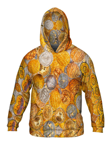 """Antique Coins"" Mens Hoodie Sweater"