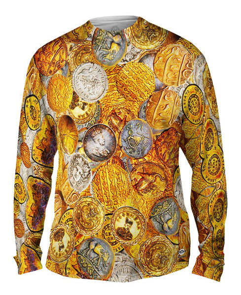 """Antique Coins"" Mens Long Sleeve"