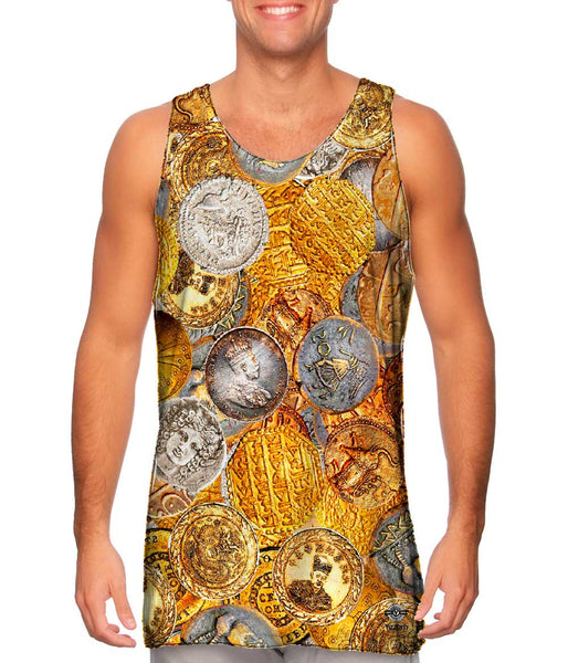 """Antique Coins"" Mens Tank Top"