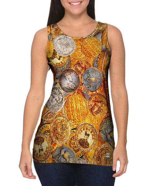 """Antique Coins"" Womens Tank Top"