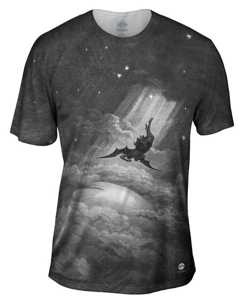 "Gustave Dore - ""Paradise Lost Fall to Earth"" (1866) Mens T-Shirt"