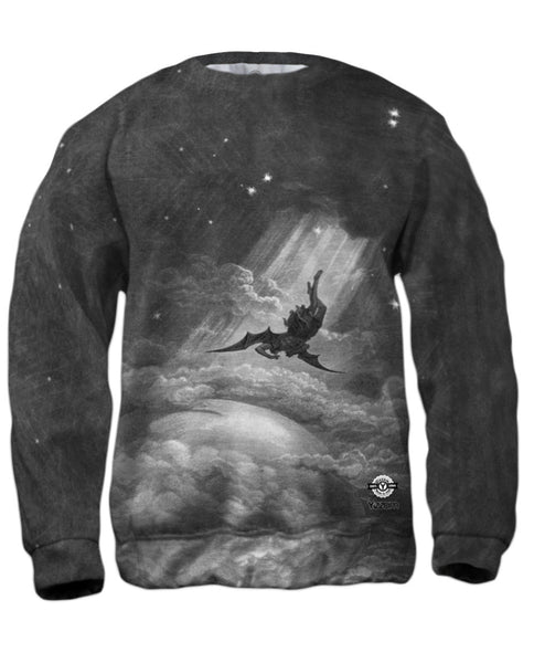 "Gustave Dore - ""Paradise Lost Fall to Earth"" (1866) Mens Sweatshirt"