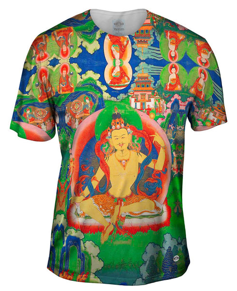 """Bhutanese Thanka Of Guru Nyima Ozer"" Mens T-Shirt"