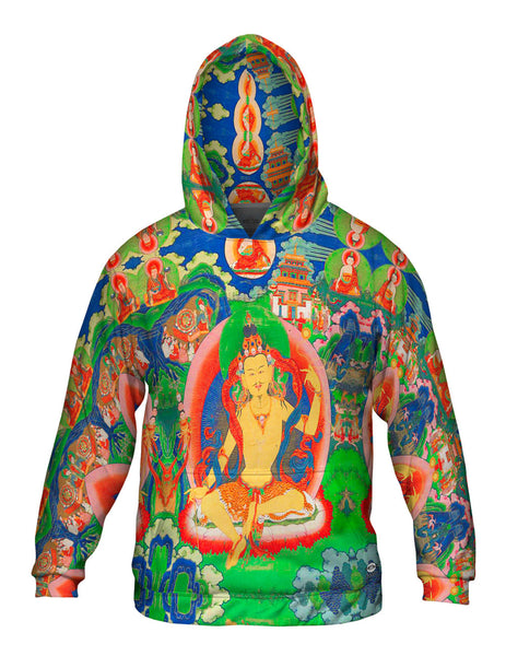 """Bhutanese Thanka Of Guru Nyima Ozer"" Mens Hoodie Sweater"