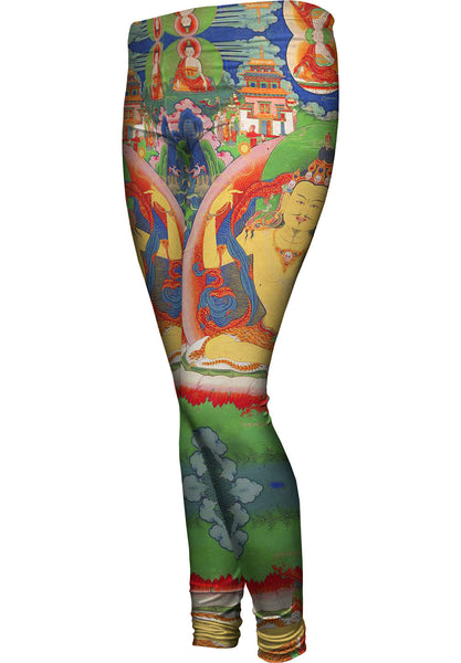 """Bhutanese Thanka Of Guru Nyima Ozer"" Womens Leggings"