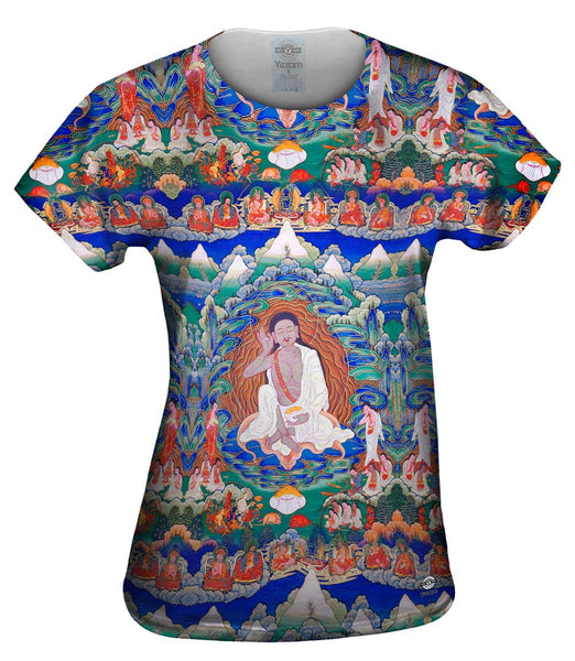 """Bhutanese painted thanka of Milarepa"" Womens Top"