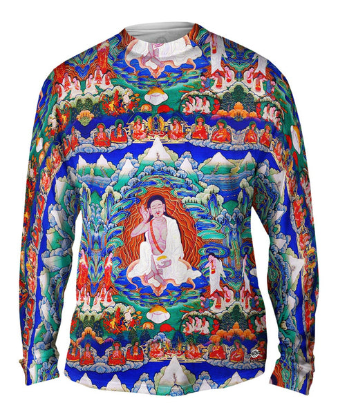 """Bhutanese painted thanka of Milarepa"" Mens Long Sleeve"