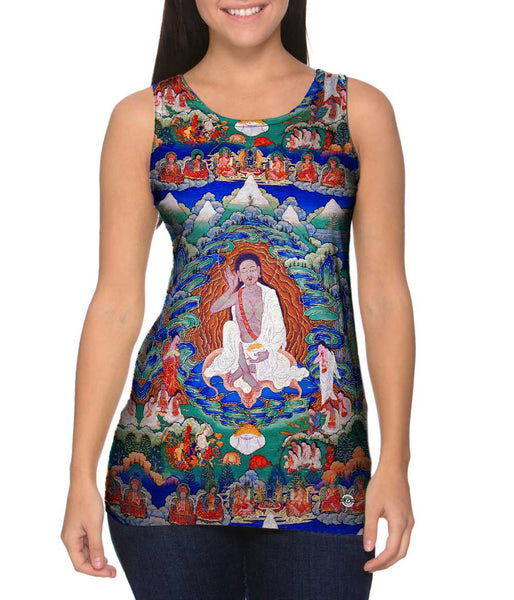 """Bhutanese painted thanka of Milarepa"" Womens Tank Top"