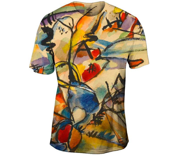 Untitled 1916 - Sparkling Yellow and Blue  - Kandinsky Mens T-Shirt