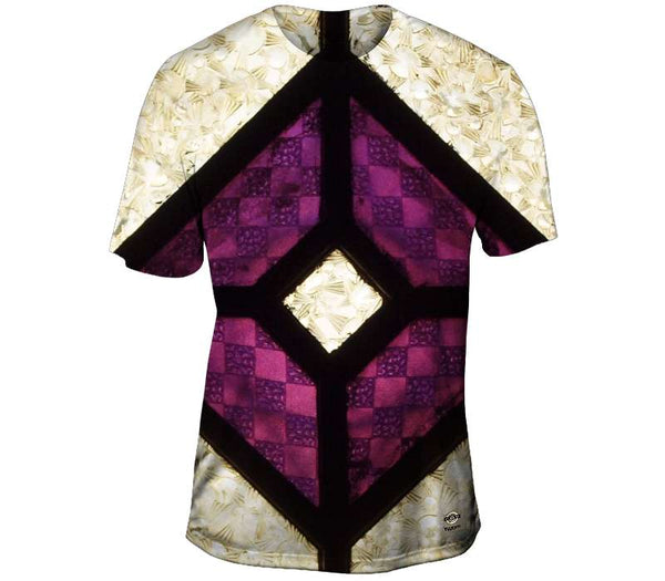 Purple And Silver Glass Mens T-Shirt