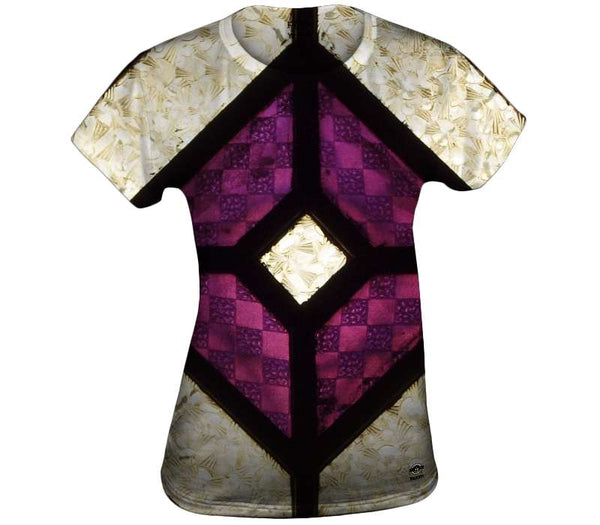 Purple And Silver Glass Womens Top