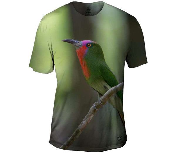Red Bearded Bee Eater Mens T-Shirt