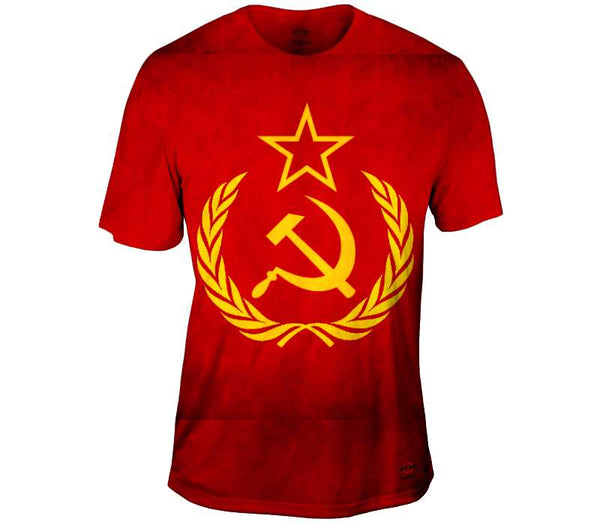Soviet Union Grunge Flag Mens T-Shirt