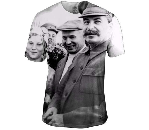 Stalin With The People Mens T-Shirt