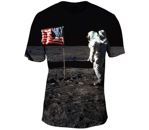 Buzz Aldrin and the U.S. Flag on the Moon
