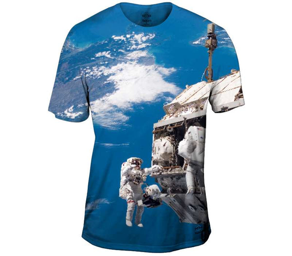 Hanging Out In Space Mens T-Shirt