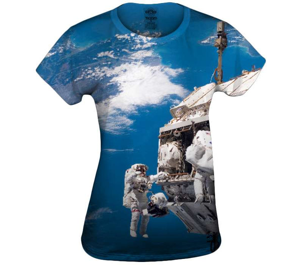 Hanging Out In Space Womens Top