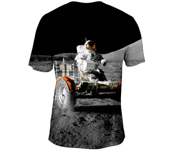 NASA Apollo 17 Rover on Patrol Mens T-Shirt