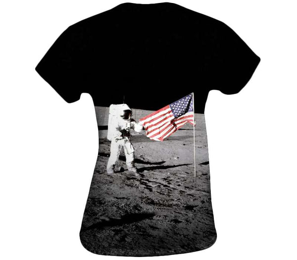 Planting the flag on the moon Womens Top