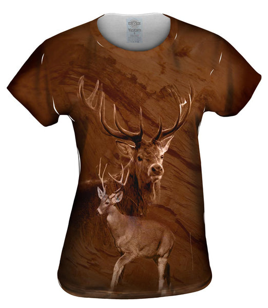 Painted Deer Womens Top