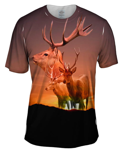 Deer Sunset Mens T-Shirt