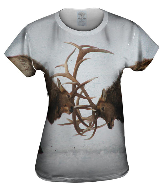 Deer Duel Womens Top