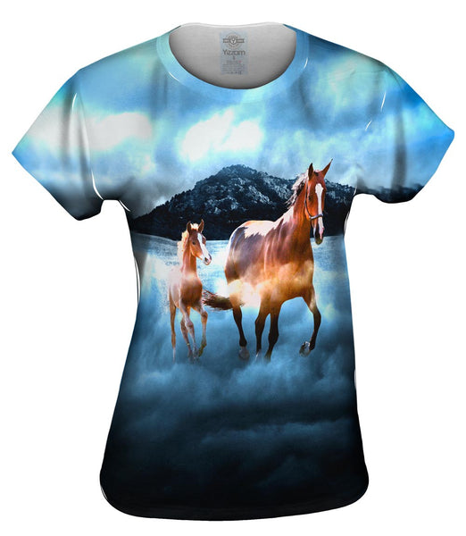 Horse Clouds Womens Top