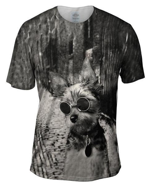 Yorkie Glasses Mens T-Shirt