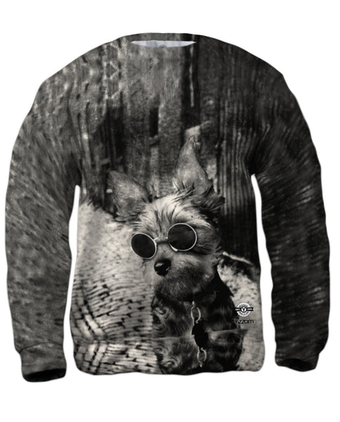 Yorkie Glasses Mens Sweatshirt