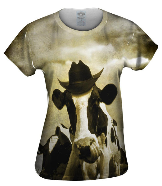 Cowboy Cow Womens Top