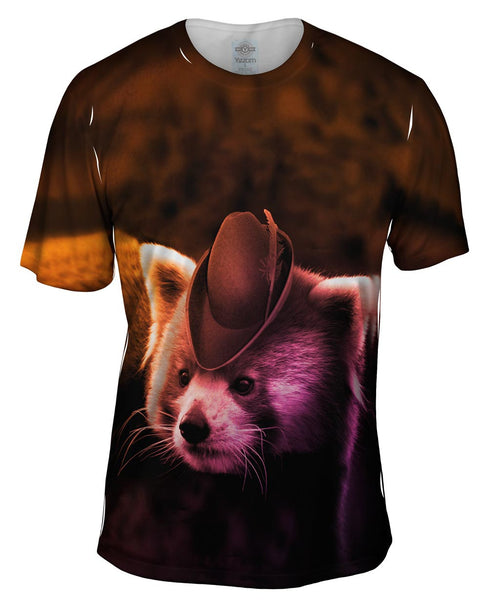 Robin Red Panda Mens T-Shirt