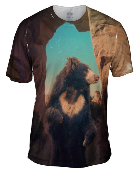 Paris Sun Bear Mens T-Shirt