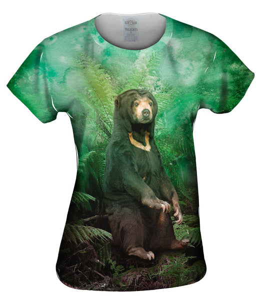 Trees Sun Bear Womens Top